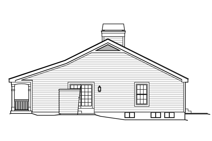 138-1225: Home Plan Right Elevation