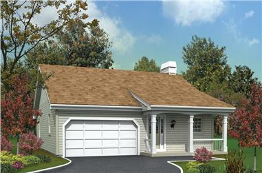 3-Bedroom, 1171 Sq Ft Ranch Home Plan - 138-1225 - Main Exterior