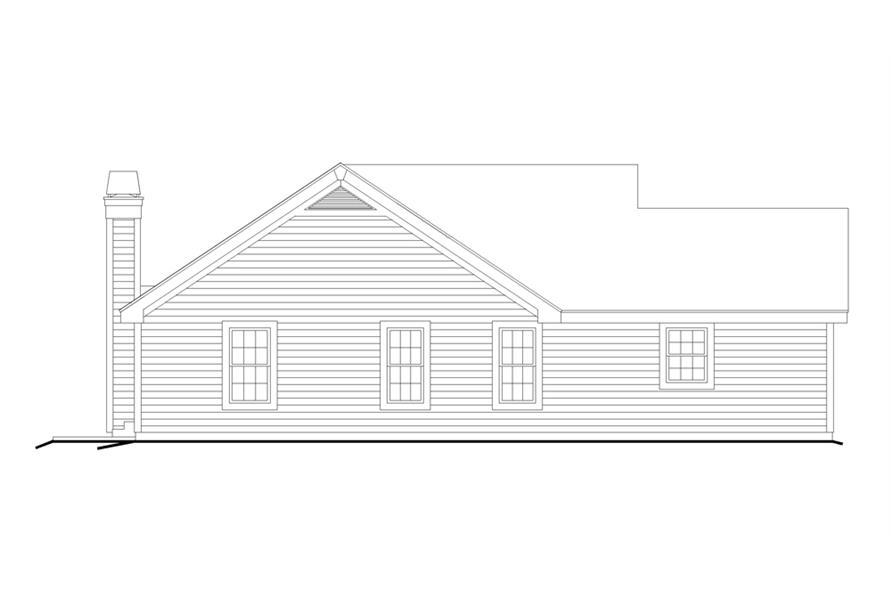 138-1226: Home Plan Left Elevation