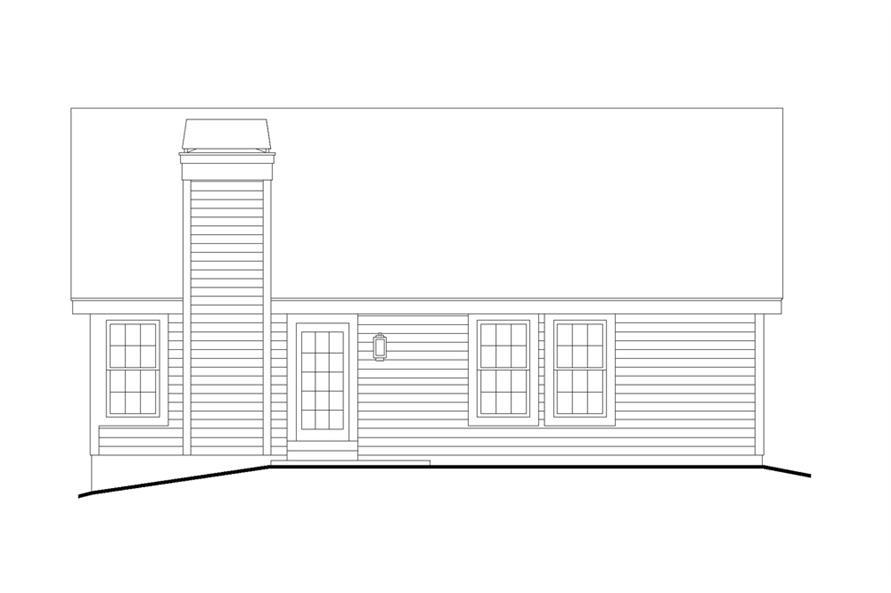 138-1226: Home Plan Rear Elevation