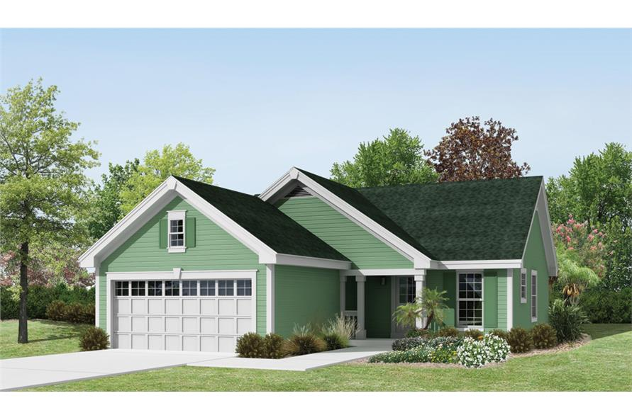 Front elevation of Country home (ThePlanCollection: House Plan #138-1226)