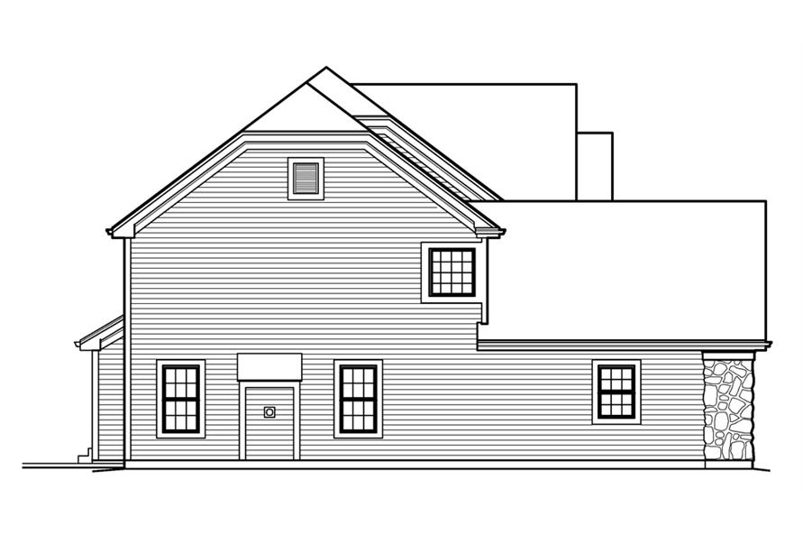 138-1227: Home Plan Left Elevation