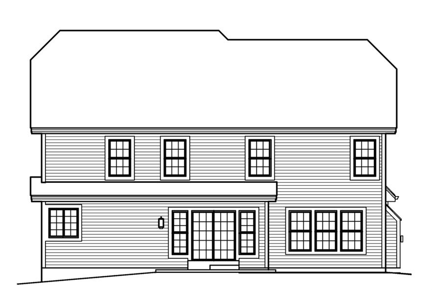 138-1227: Home Plan Rear Elevation