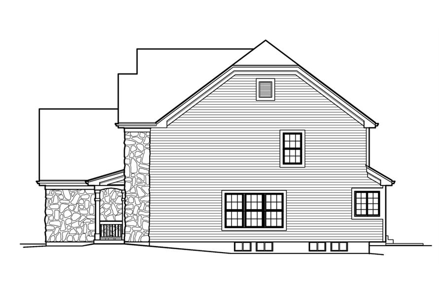 138-1227: Home Plan Right Elevation