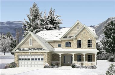 4-Bedroom, 3269 Sq Ft Traditional House Plan - 138-1227 - Front Exterior