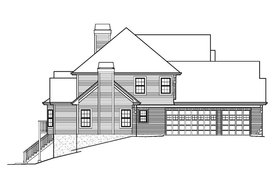 138-1228: Home Plan Left Elevation