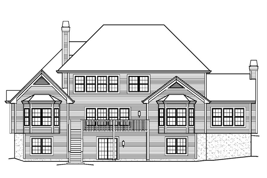 138-1228: Home Plan Rear Elevation