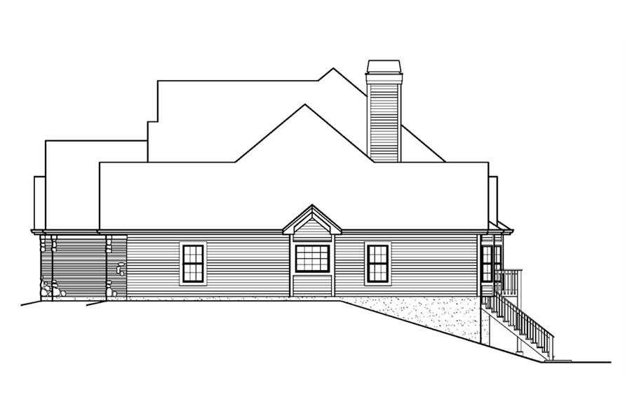 138-1228: Home Plan Right Elevation