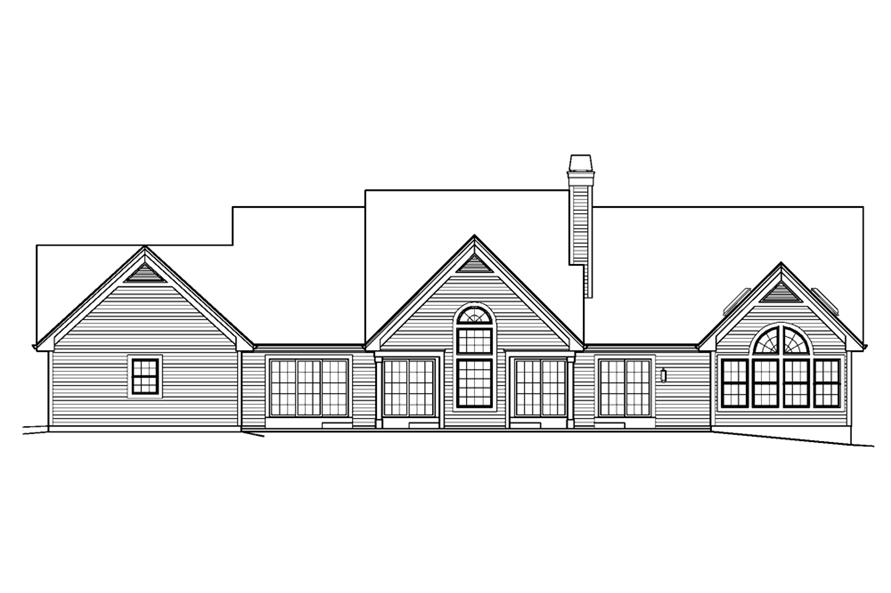 138-1229: Home Plan Rear Elevation