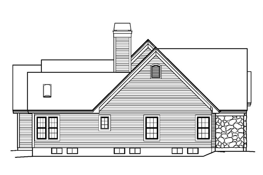 138-1229: Home Plan Left Elevation