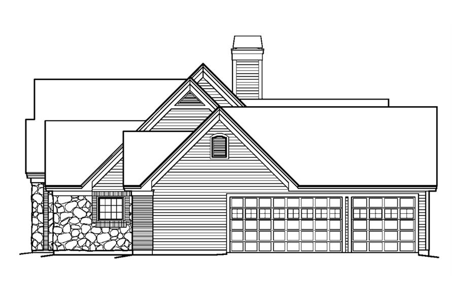 138-1229: Home Plan Right Elevation