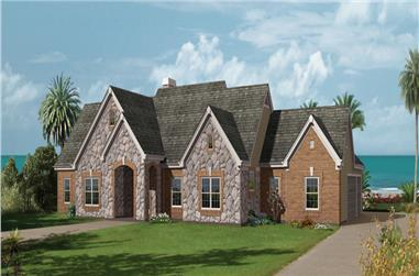 3-Bedroom, 2859 Sq Ft Ranch House Plan - 138-1229 - Front Exterior