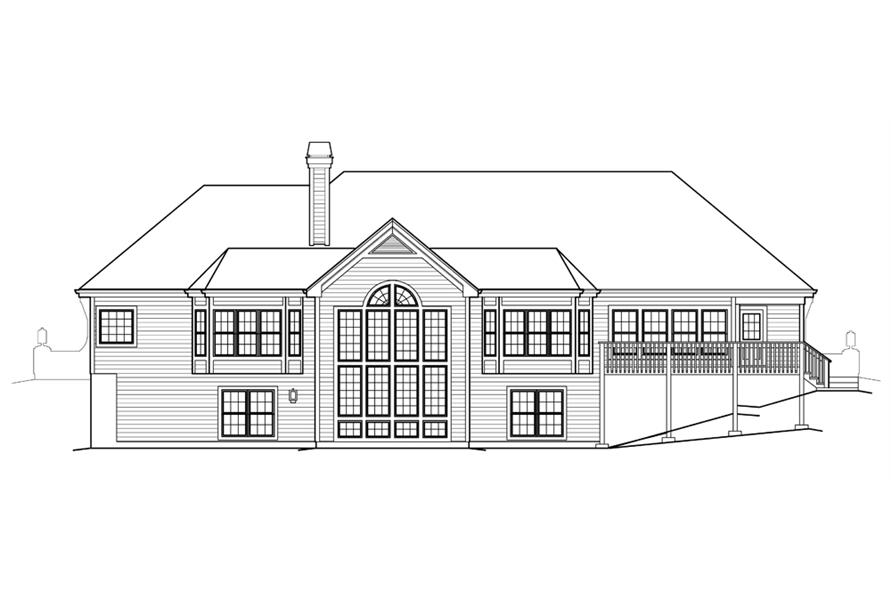 138-1230: Home Plan Rear Elevation
