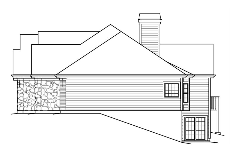 138-1230: Home Plan Right Elevation