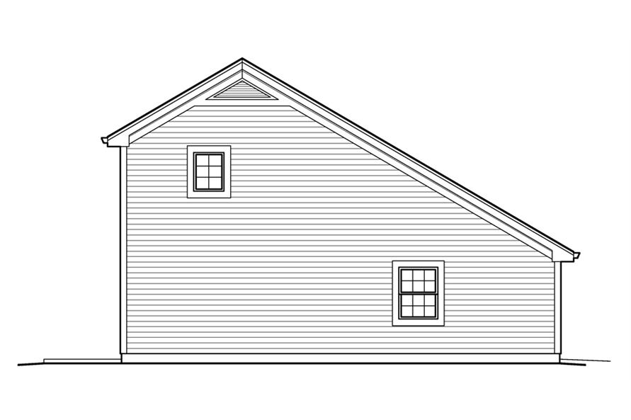 Home Plan Left Elevation of this 1-Bedroom,656 Sq Ft Plan -138-1231