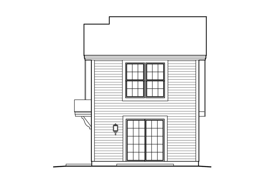 138-1231: Home Plan Rear Elevation