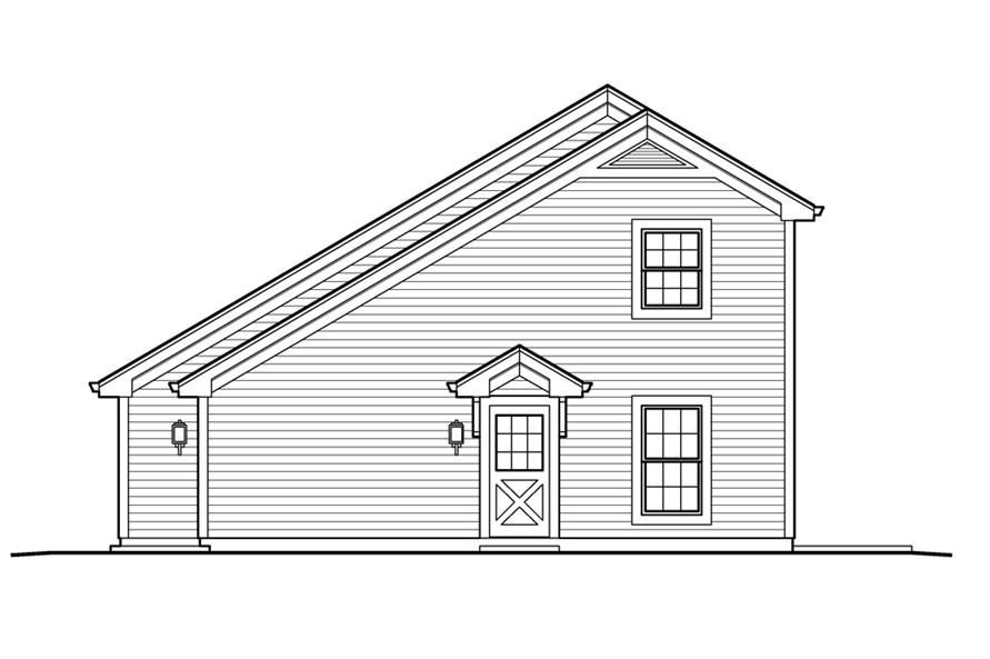 Home Plan Right Elevation of this 1-Bedroom,656 Sq Ft Plan -138-1231
