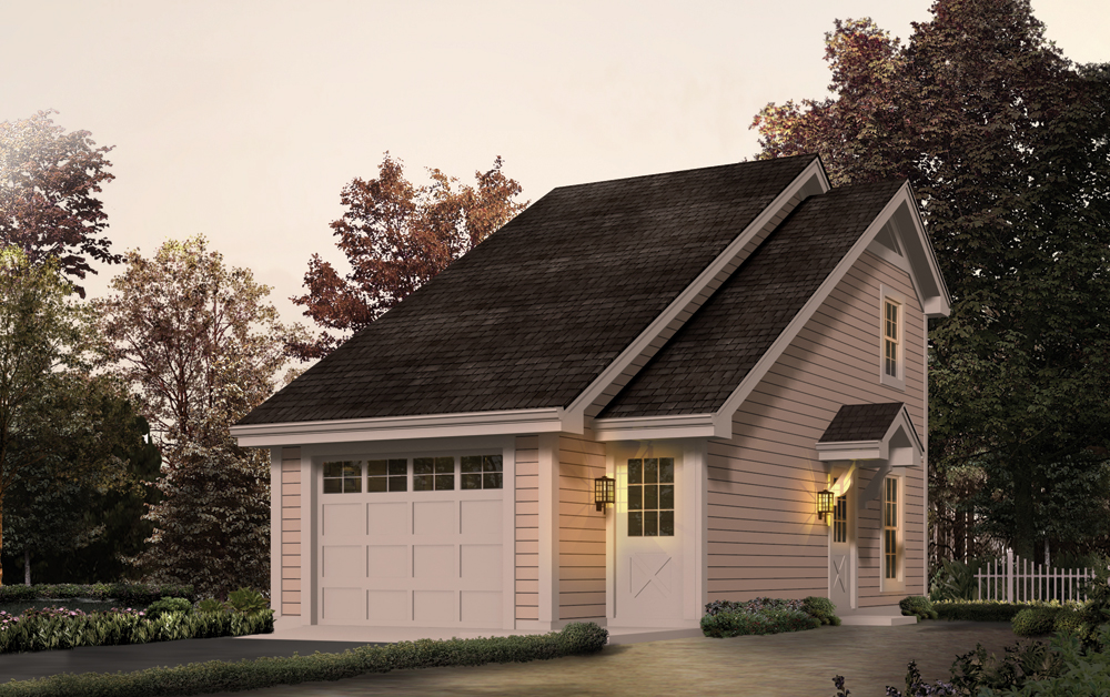 Garage w apartments house plan 138 1231 1 bedrm 656 sq for Saltbox garage plans