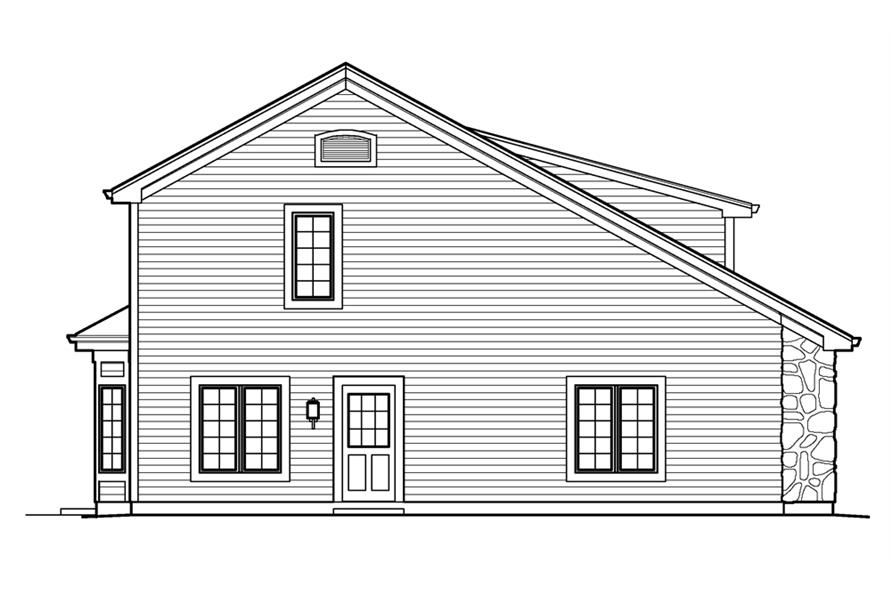 138-1232: Home Plan Left Elevation