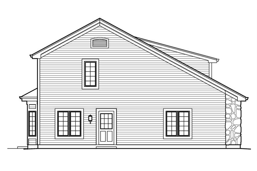 138-1232: Home Plan Left Elevation