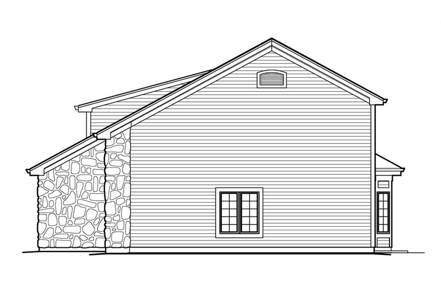138-1232: Home Plan Right Elevation