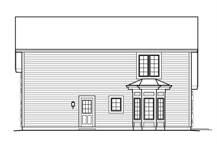 138-1232: Home Plan Rear Elevation