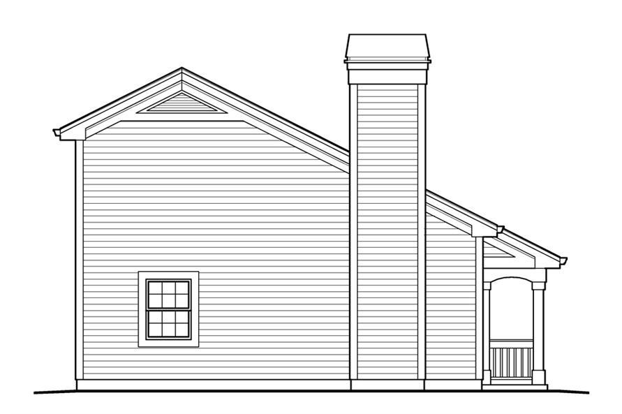138-1233: Home Plan Left Elevation