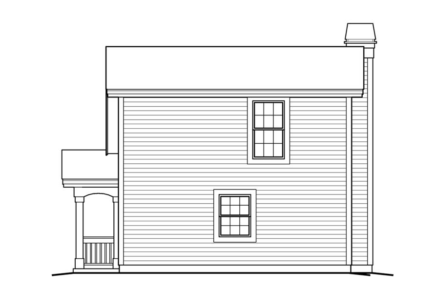 Home Plan Rear Elevation of this 1-Bedroom,641 Sq Ft Plan -138-1233