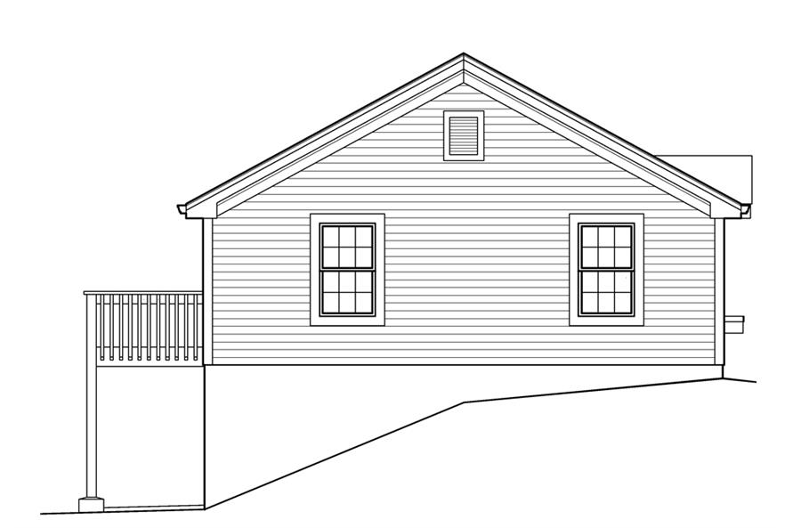 138-1234: Home Plan Left Elevation