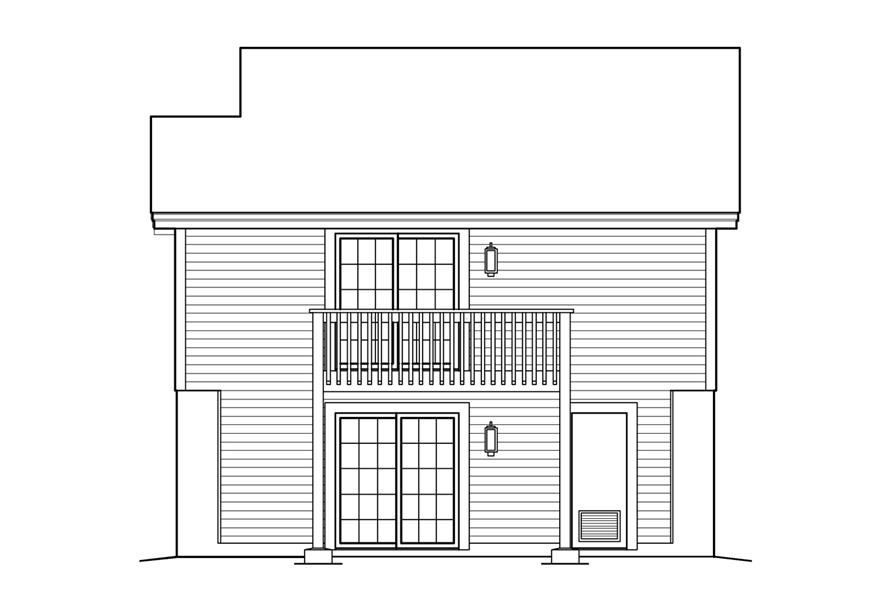 138-1234: Home Plan Rear Elevation