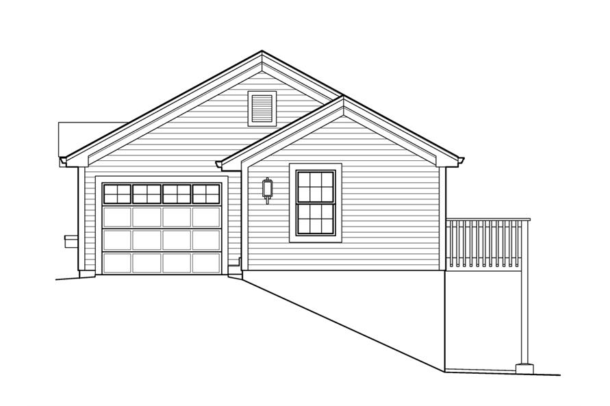 138-1234: Home Plan Right Elevation