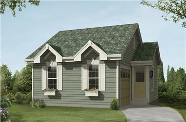 Front elevation of Cottage home (ThePlanCollection: House Plan #138-1234)