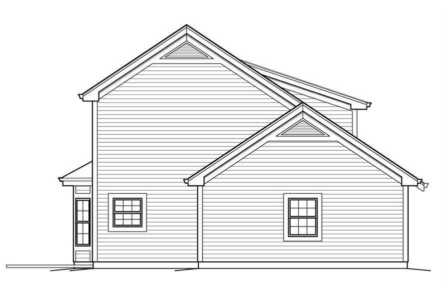 138-1235: Home Plan Left Elevation