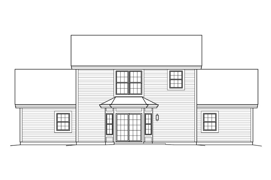 138-1235: Home Plan Rear Elevation