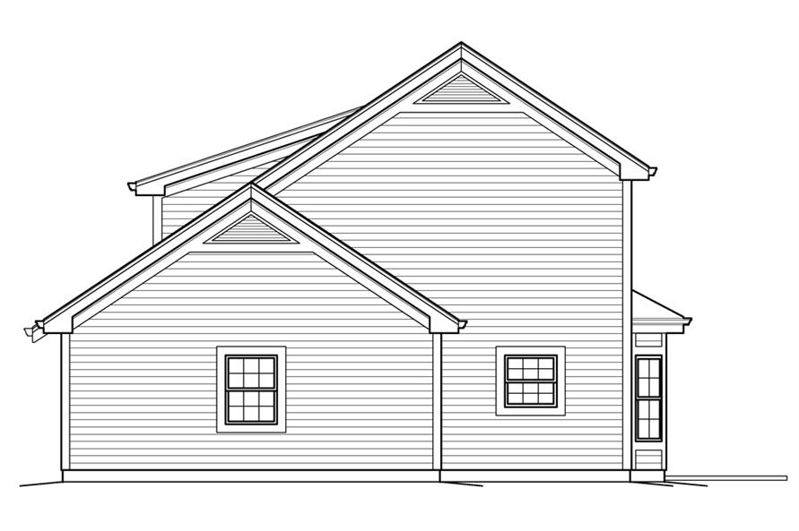 138-1235: Home Plan Right Elevation