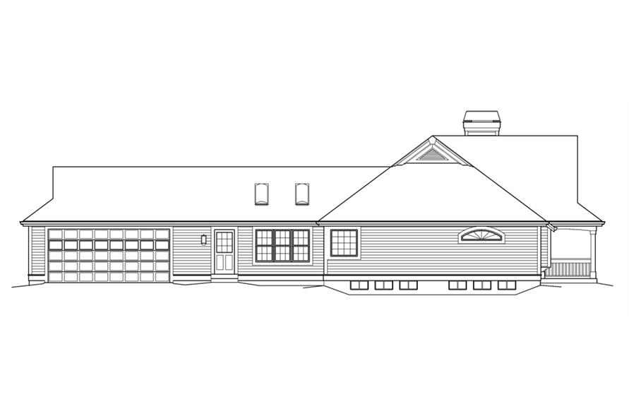 138-1236: Home Plan Left Elevation