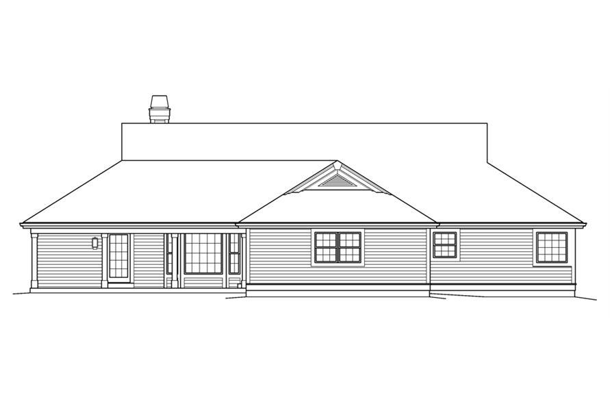 138-1236: Home Plan Rear Elevation