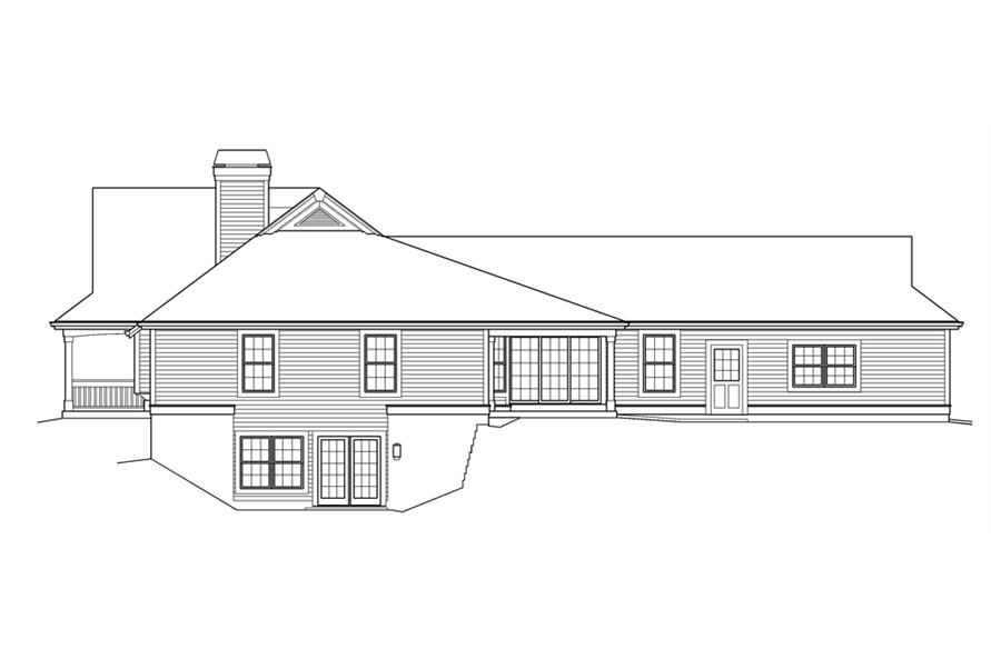 138-1236: Home Plan Right Elevation
