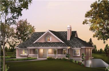 3-Bedroom, 2800 Sq Ft Country House Plan - 138-1236 - Front Exterior