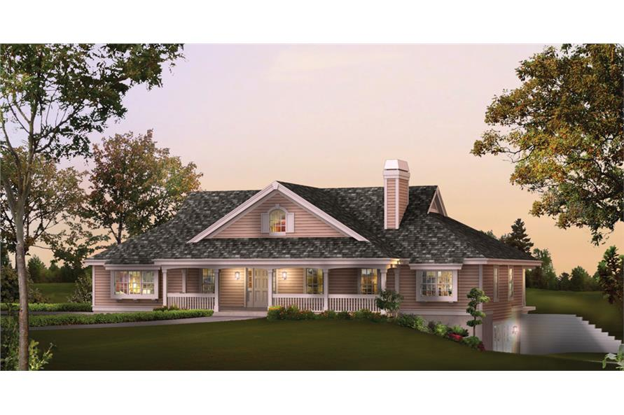 Front elevation of Country home (ThePlanCollection: House Plan #138-1236)