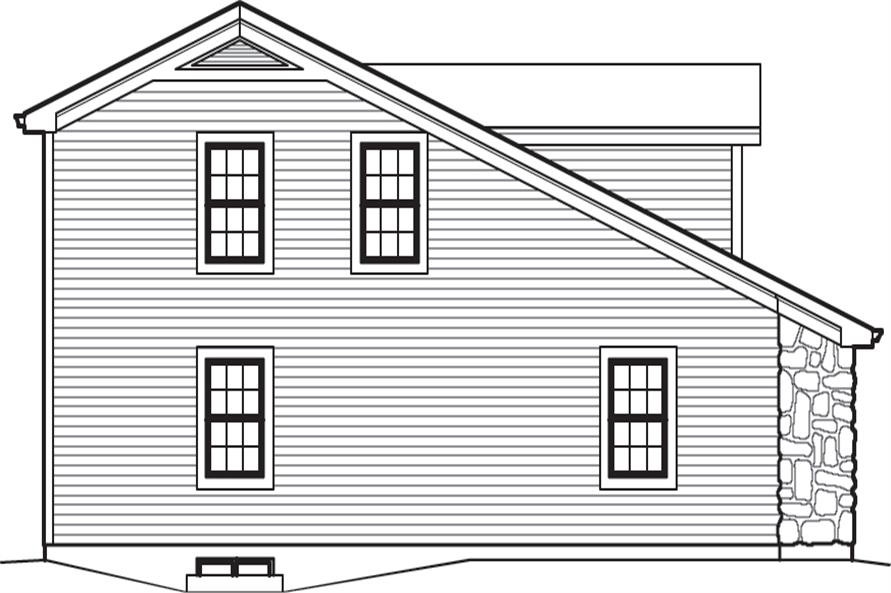 138-1237: Home Plan Left Elevation