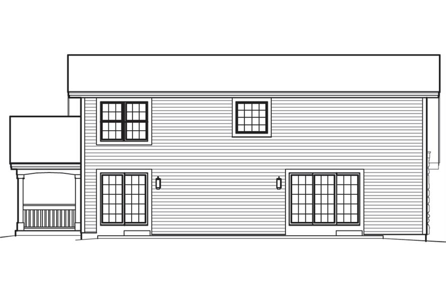 138-1237: Home Plan Rear Elevation