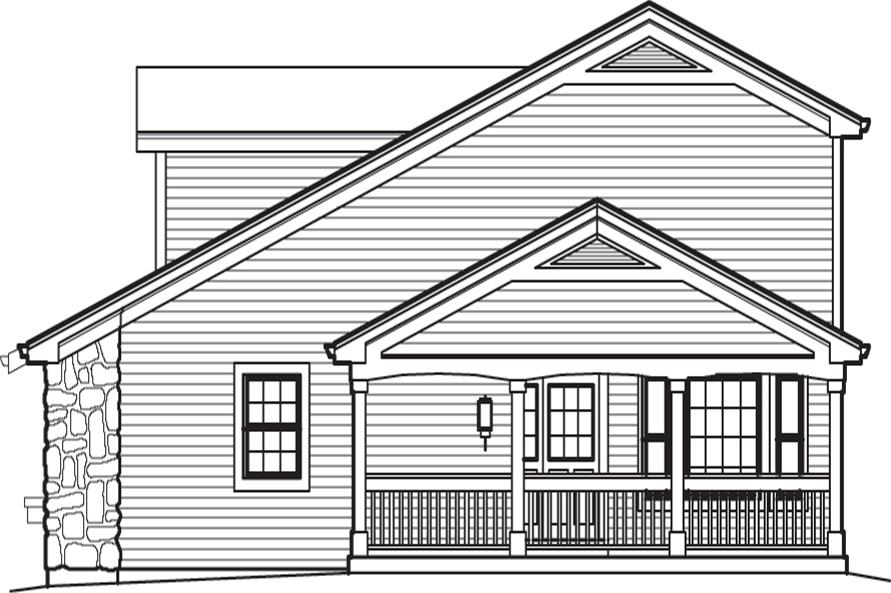 138-1237: Home Plan Right Elevation