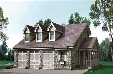 3-Bedroom, 2882 Sq Ft Country House Plan - 138-1237 - Front Exterior