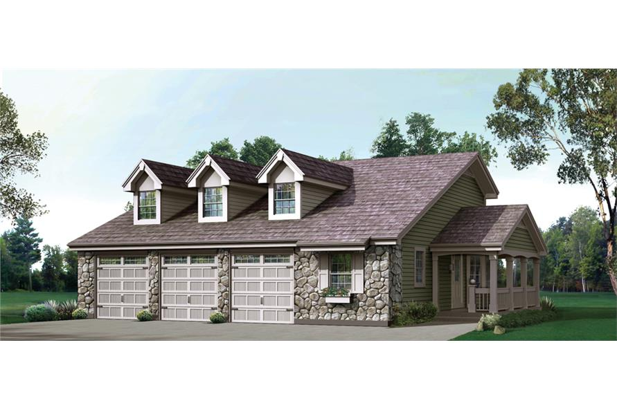 Front elevation of Country home (ThePlanCollection: House Plan #138-1237)