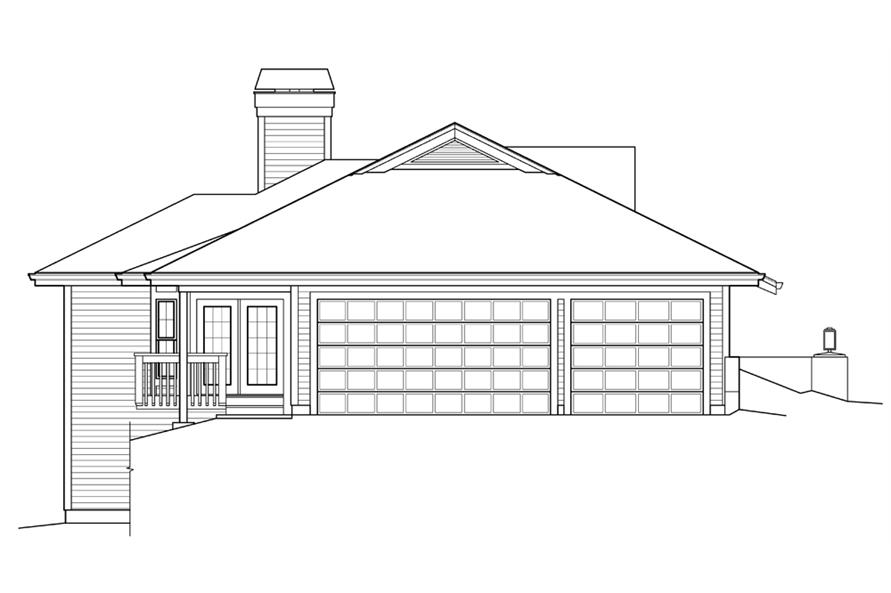 Home Plan Left Elevation of this 3-Bedroom,2163 Sq Ft Plan -138-1238