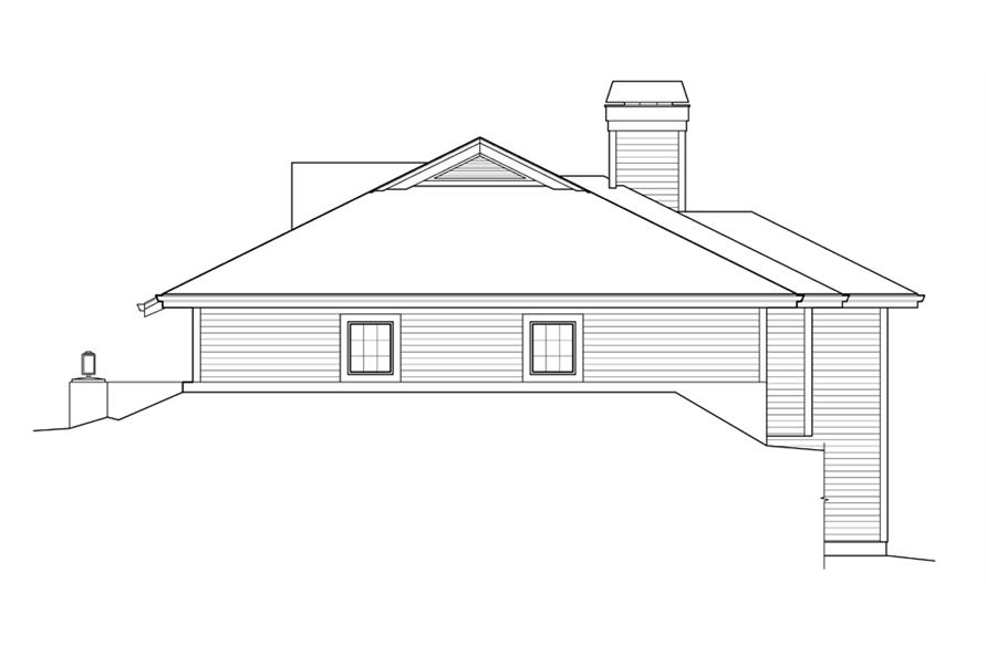 Home Plan Right Elevation of this 3-Bedroom,2163 Sq Ft Plan -138-1238