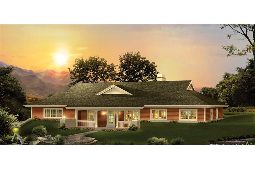 3-Bedroom, 2163 Sq Ft Ranch House Plan - 138-1238 - Front Exterior