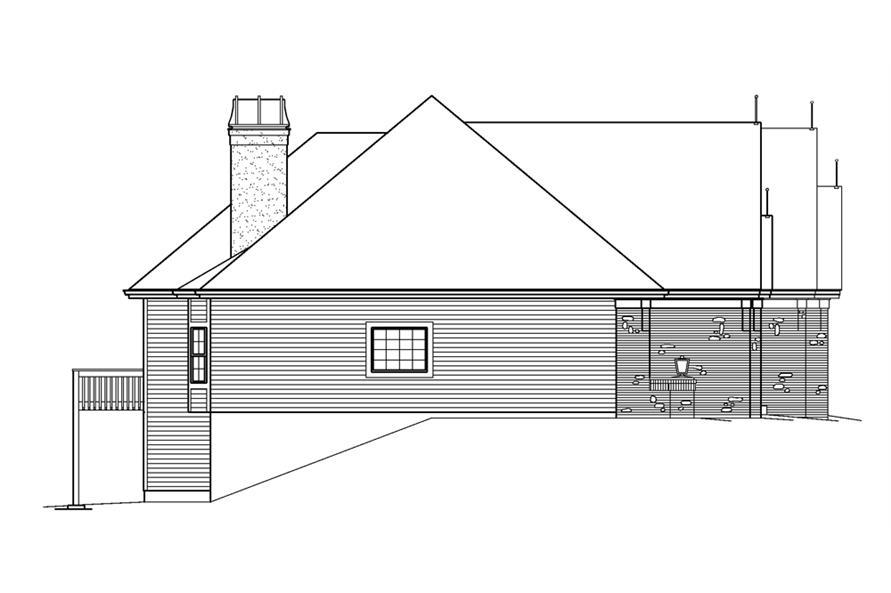 138-1239: Home Plan Left Elevation