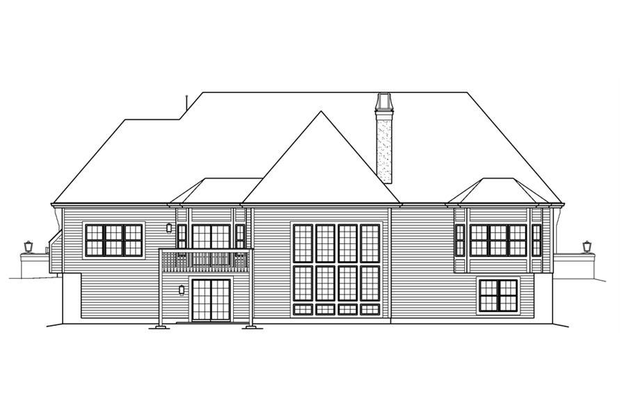 138-1239: Home Plan Rear Elevation